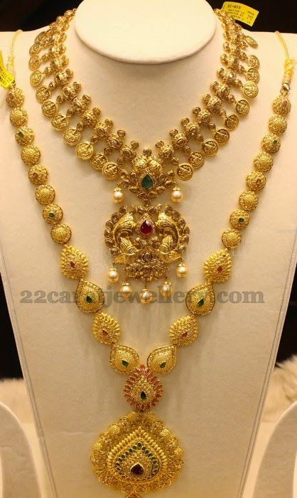 Jewellery Designs: Pear Shaped Gold Sets