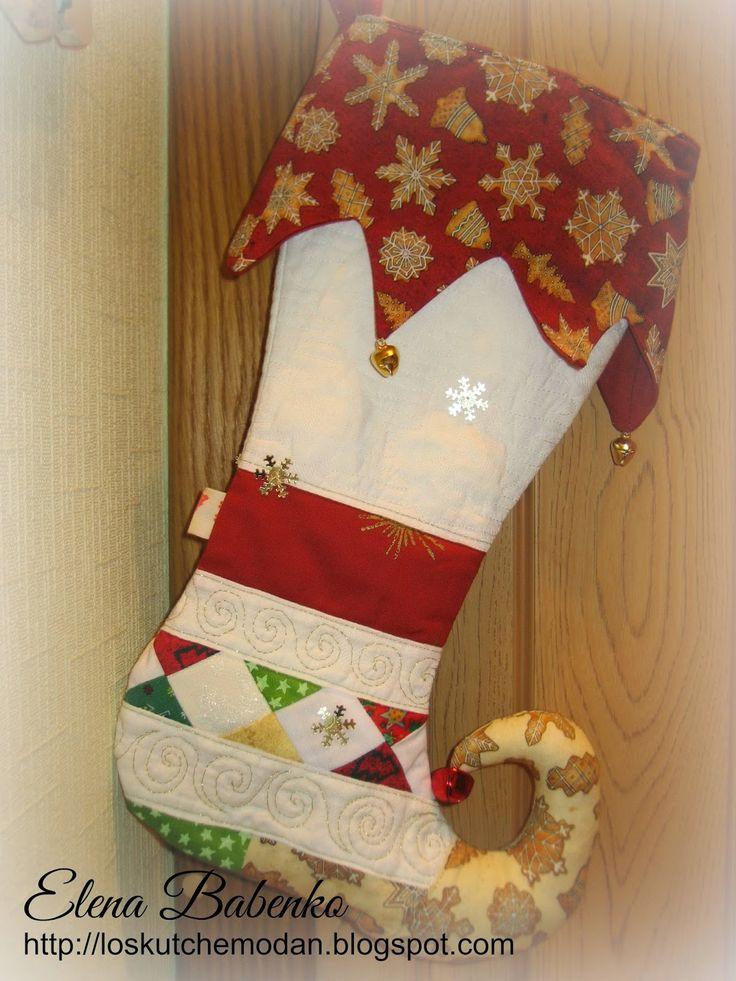 Лоскутный чемоданчик: Рождественский сапожок