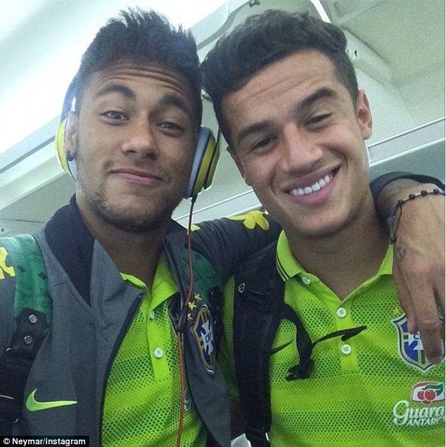 Golden boys: Brazil captain Neymar and Liverpool's Philippe Coutinho can restore Brazil to...
