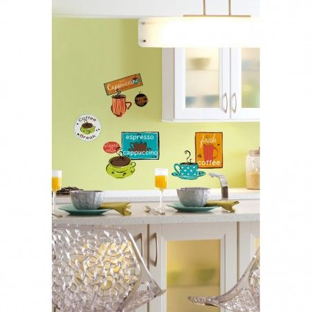 Cafe Wall Decals   RoomMates Peel and Stick D cor. 144 best Roommates Peel   Stick Wall Decals images on Pinterest