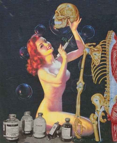 scientific pin up. Ginger models to fund her studies & hopes one day to take over the world with her bioengineered army.