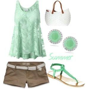 Cute mint summer outfit