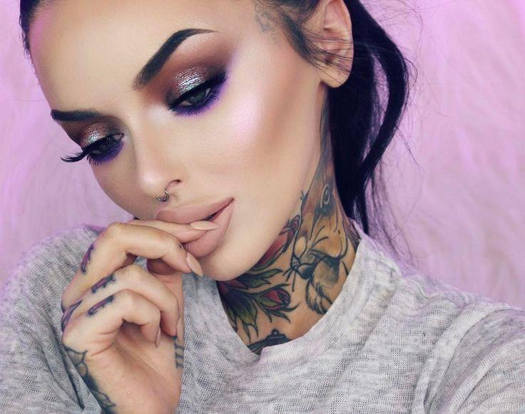 "3,287 Likes, 36 Comments - B E L L E ・ J O R D E N  (@bellejorden) on Instagram: ""⚡️ @anastasiabeverlyhills Aurora Glow Kit Spectra for the Purple glow + Iridescent Purple for…"""