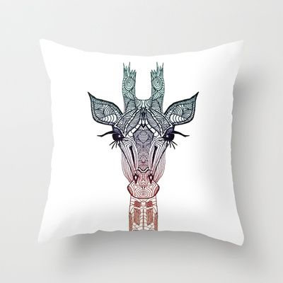 I LOVE THIS PILLOW  GiRAFFE Throw Pillow by M✿nika  Strigel	 - $20.00