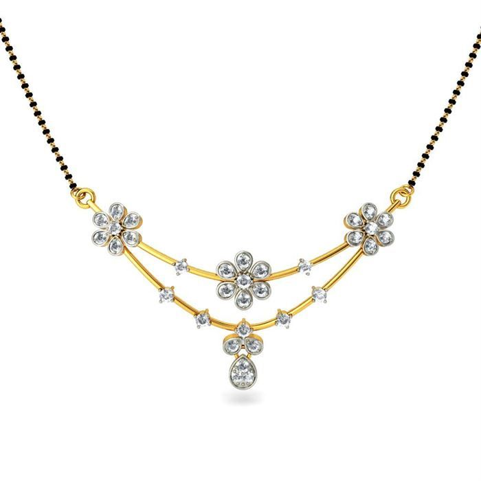 #Buy Floral Shape Mangalsutra #Floral Shape Mangalsutrat price in India, Floral…