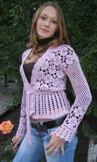 DE MIS MANOS TEJIDOS Y MAS...: Tejidos a crochet - Very pretty.: Style Cardigansfashion, Cardigans Style