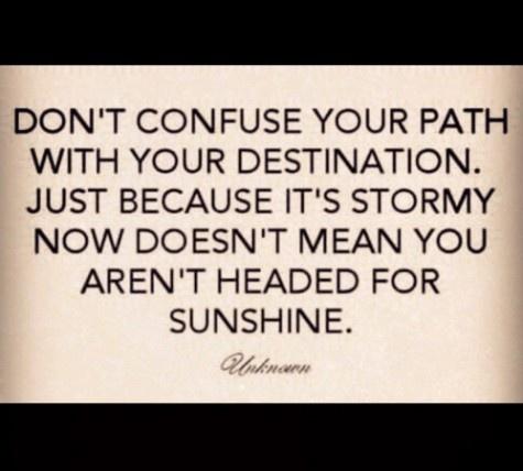 Path and destination.