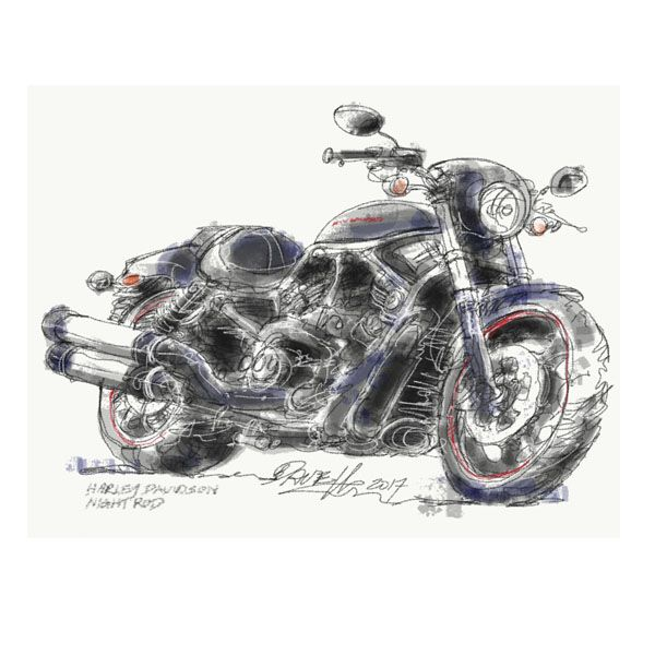 Dave Hendroff Illustrations Harley Night Rod