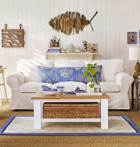 Beach Themed Living Room Ideas With White Sofa And Wall Decor Adorable Decorations For Housebeach Inspired