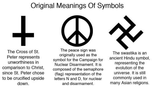 Original meanings of symbols arcane pinterest for Tattoos that say something different upside down