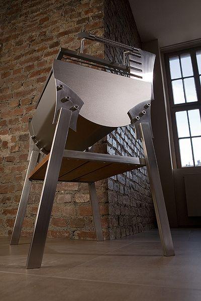 die besten 25 edelstahl grill ideen auf pinterest feuerstelle edelstahl feuerstelle aus. Black Bedroom Furniture Sets. Home Design Ideas