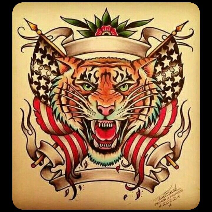 Tiger Tattoo Old School | Tatuagens | Pinterest | Tatuagem ...