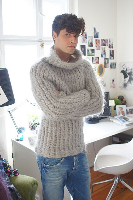 Mohair sweater with extra texture and feel to it