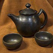 Посуда ручной работы. Ярмарка Мастеров - ручная работа Керамический чайник «Ганди». Handmade.