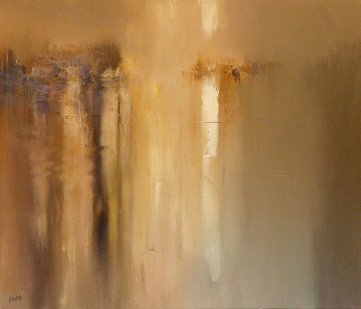 """Saatchi Online Artist: Graham Pook; Oil, 2012, Painting """"Shine on Silently - River Spey"""""""