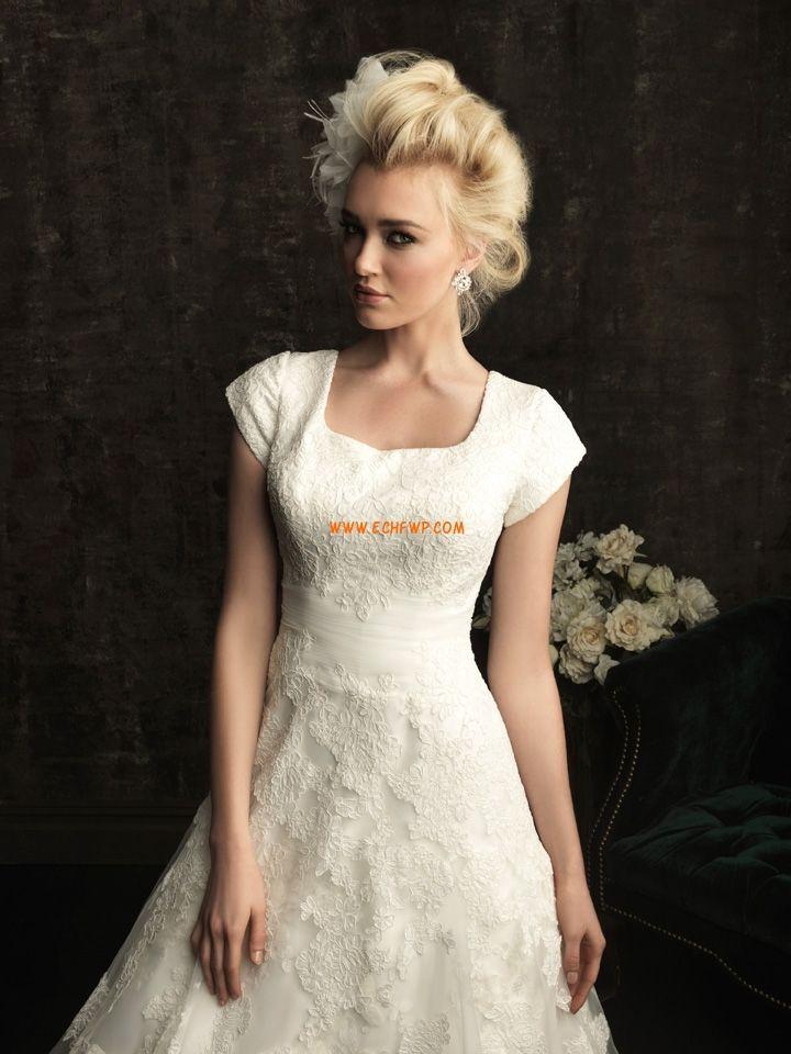 Obdélníkový Tyl Přírodní Svatební šaty 2013