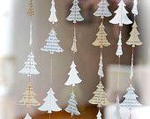 Articoli simili a Ghirlanda di Natale, ghirlanda di carta,