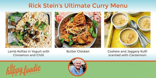 Rick Stein's Ultimate Curry Menu. Here's a perfect treat for the weekend. A sumptuous, authentic three-course Indian menu taken from Rick Stein's India. Looks and tastes stunning, but is deceptively simple to make.http://thehappyfoodie.co.uk/articles/rick-steins-ultimate-curry-menu
