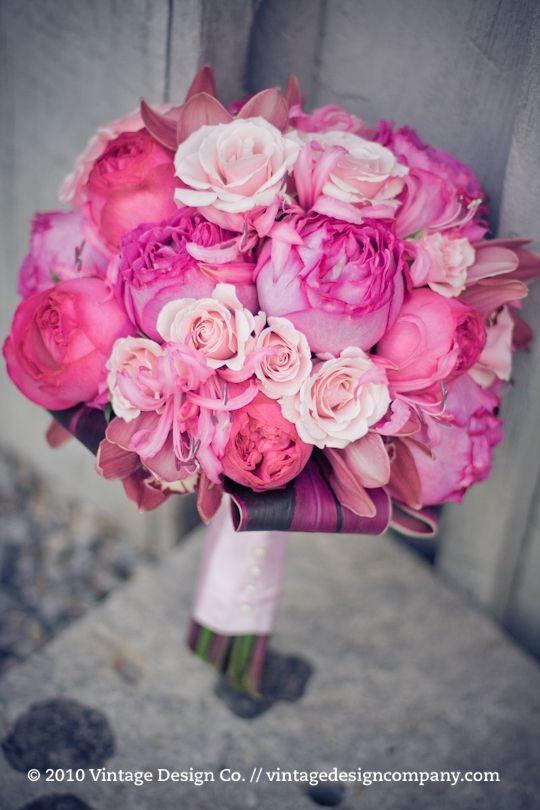 Pink, Flowers, Roses, Wedding, Peonies