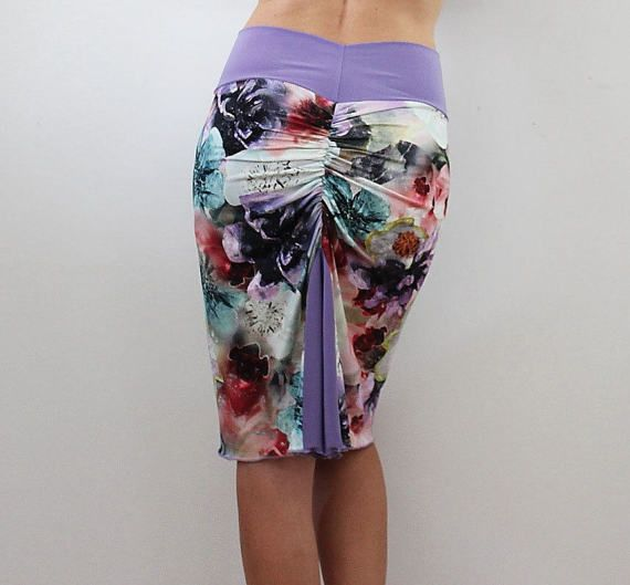 Pencil skirt floral print argentine tango skirt tango dance