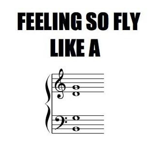 Feeling so fly like a..... (if you get this you must have gone to music school.)  Found this off Juilliard memes on facebook.