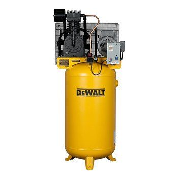 DeWalt DXCMV7518075 80-Gallon Two-Stage - Cast Iron - Industrial Air Compressor is engineered with Cast Iron construction designed for durability, dependability, and smooth operation. It features a patented pump design that provides for a cooler running pump, a patented piston design allowing for improved compression efficiency. It is expertly engineered for Industrial performance and delivers maximum CFM (Cubic Feet Per Minute) at 175-PSI (Pressure Per Square Inches) allowing for it to…