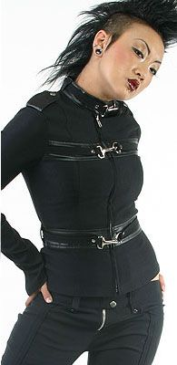 Lip Service  Gangsta Pranksta full black jacket size XL