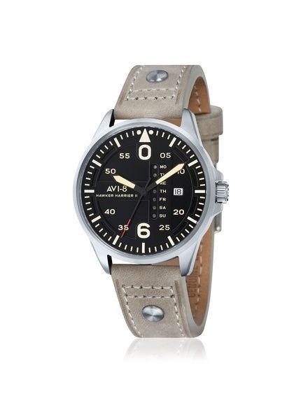 AVI-8 Men's AV-4003-03 Hawker Harrier II Tan/Black Stainless Steel Watch at MYHABIT