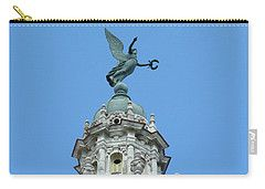 Carry-all Pouch featuring the photograph Cuba Architect Rooftop2 by Francesca Mackenney