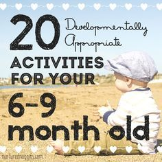 Your baby is constantly growing and learning. At 6-9 months, you baby has a whole host of new skills! Learn 20 developmentally appropriate activities for  you and your 6-9 month old to enjoy togeth…