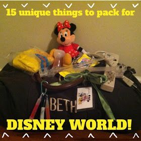 A Disney Mom's Thoughts: 15 Things to Pack for Disney