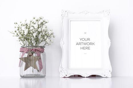 White Frame Mockup / PSD&JPG by Razvan Dumitrasconiu