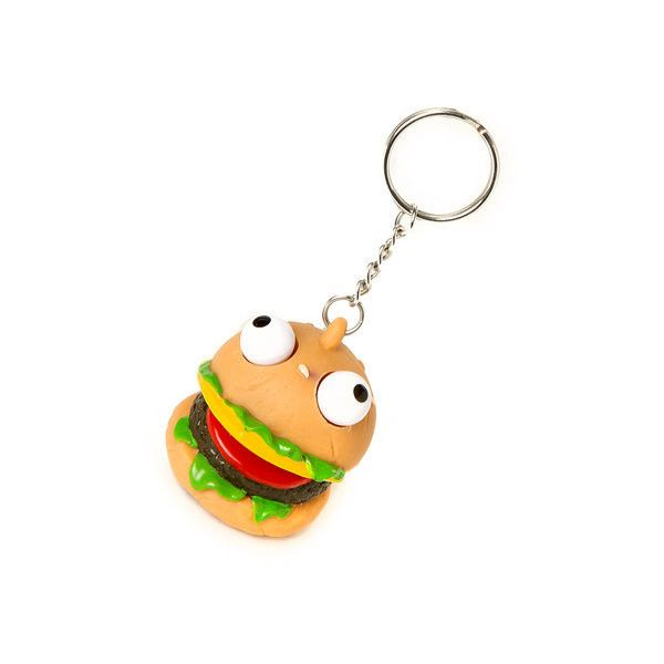 Katy Perry Cheeseburger with Pop Out Eyes Keychain ($35) ❤ liked on Polyvore