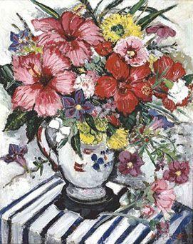 Mixed Flowers, oil on canvas ,1925 Margaret Preston