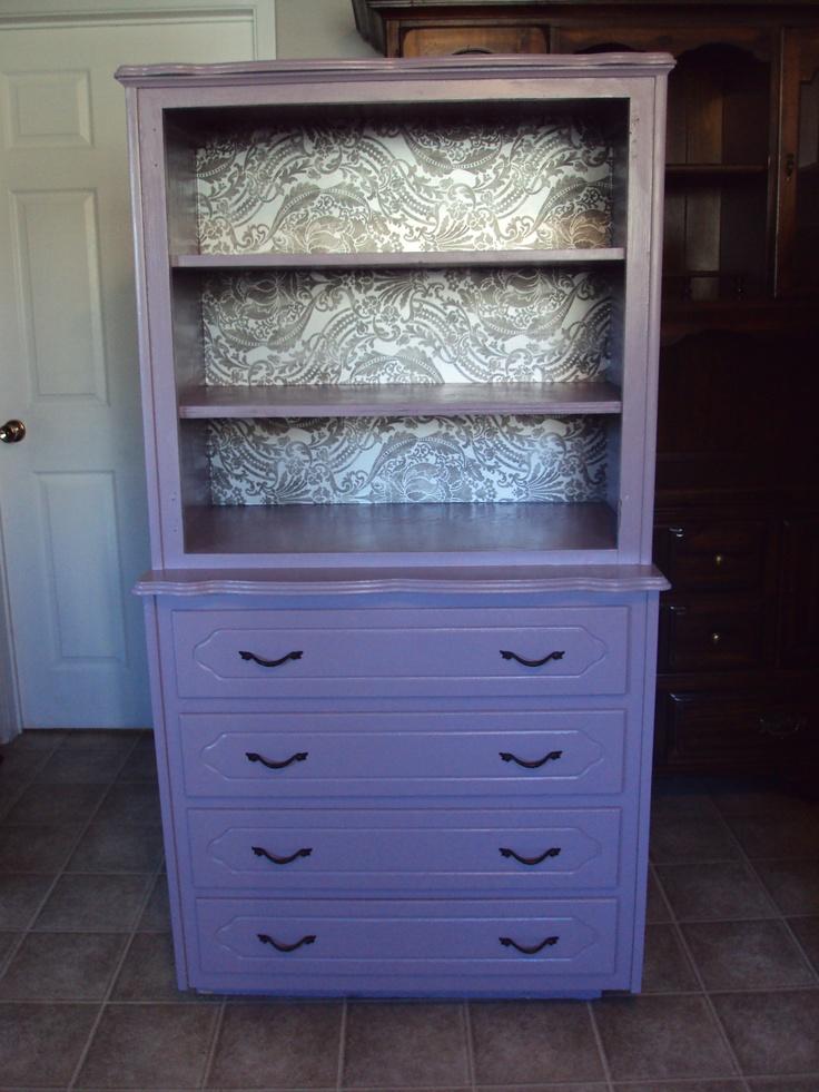 Painted White Dresser Bookshelf Combo