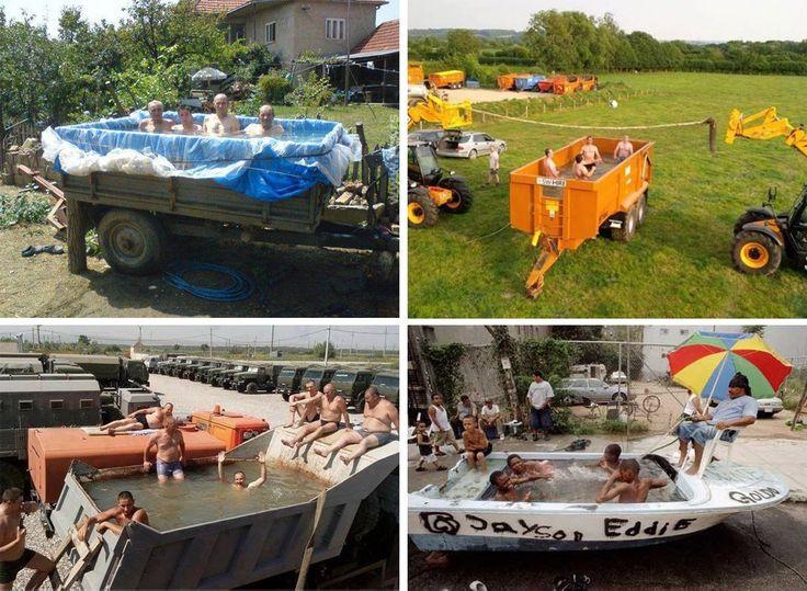 Podomácky vyrobené bazény