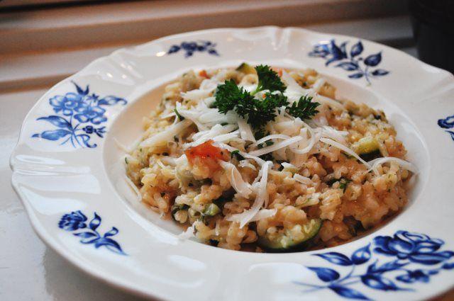 Risotto met zoete aardappel & courgette (7x lekkere risotto recepten)