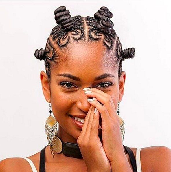 These cornrowed bantu knots are too beautiful to take down.