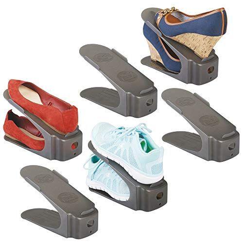 MDesign Compact Plastic Single Shoe Slot Stacker And Orga