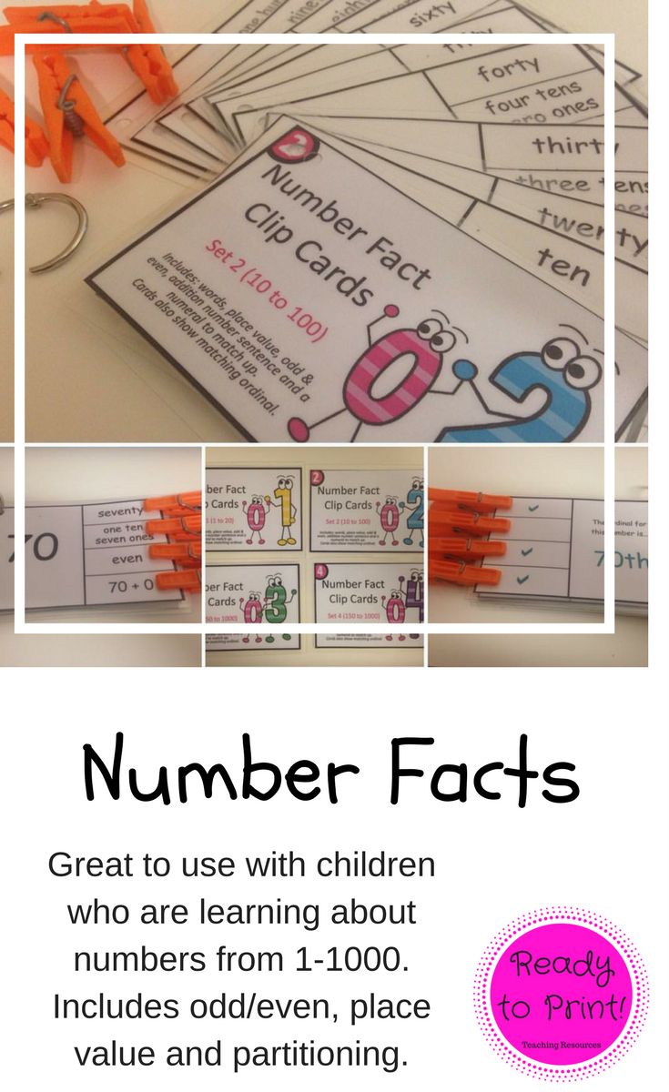 Working on number revision is easy with these clip cards! Students attach pegs to their chosen answers, flip the card and check if they are correct.