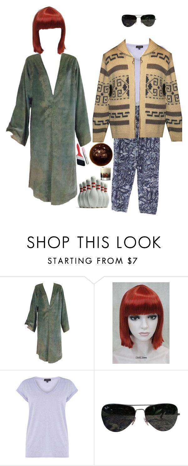 """""""Maude & The Dude"""" by living-colorfully ❤ liked on Polyvore featuring Warehouse, Ray-Ban and Pendleton"""