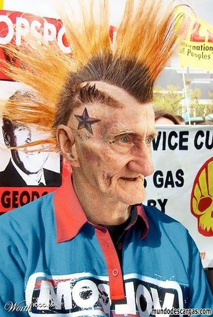 Humor Grafico - El abuelo del Punk - Imagenes graciosas gratis