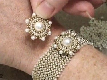 Video:How to do Circular Brick Stitch Bead Weaving around a Bead.  #Seed #Bead #Tutorials