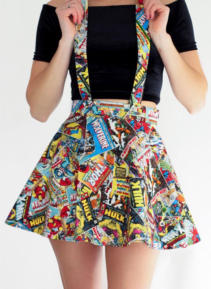 Marvel Suspender Skater Skirt