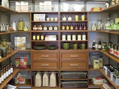 Magnificent Large Walk Pantry
