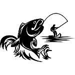 c-fish-0004 - Gotcha! Fishing stencil