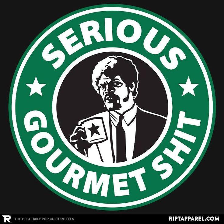 Pulp Fiction / Starbucks mashup logo design