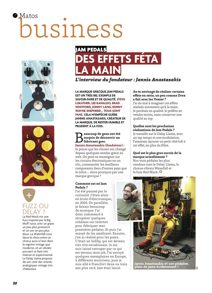 "#jampedals review by the French ""Guitar Par"" magazine"