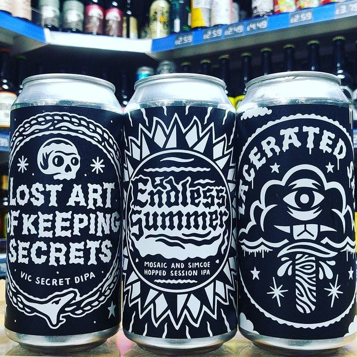 Lost Art Of Keeping Secrets 8.5% Vic Secret DIPA Endless Summer - 4.5% Mosaic & Simcoe Hopped Session IPA & Lacerated Sky - 9% Imperial Red from @blackirisbrewery available now