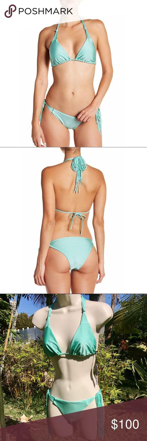 Turquoise fringe bikini 🐠🐠🐠 Amuse Society Swim Bikinis